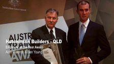 Hutchinson Builders win Employer of the Year Award @ The Australian Training Awards 2011