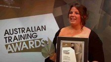 Jessica Pendlebury wins Australian School-based Apprentice of the Year @ The Australian Training Awards 2011
