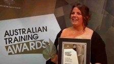 Jessica Pendlebury wins Australian School-based Apprentice of the Year @ The Australian Training Awards 2011