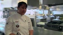 Aqua Dining Scholarship winner Fuji Taukatelata on the job she loves