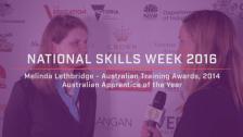 National Skills Week 2016: National Launch Melinda Lethbridge