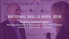 National Skills Week 2016: QLD Launch Andrew Hetherington