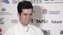 National Skills Week 2018 NSW Launch: Christopher Matkowski, 2018 WorldSkills Gold Medalist in Cookery, National Championship
