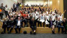 Guests at National Skills Week Victorian Launch wish Skillaroos good luck