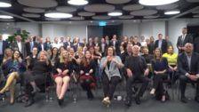 Guests at National Skills Week Queensland Launch wish Skillaroos good luck